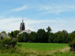 Sautin - Panorama et église